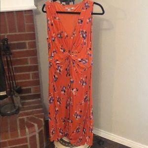 Boden plunging neckline maxi dress